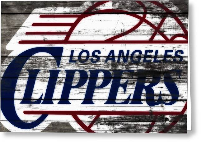 The Los Angeles Clippers 3c Greeting Card by Brian Reaves
