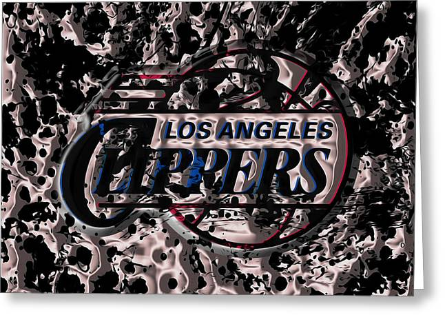 The Los Angeles Clippers Greeting Card by Brian Reaves