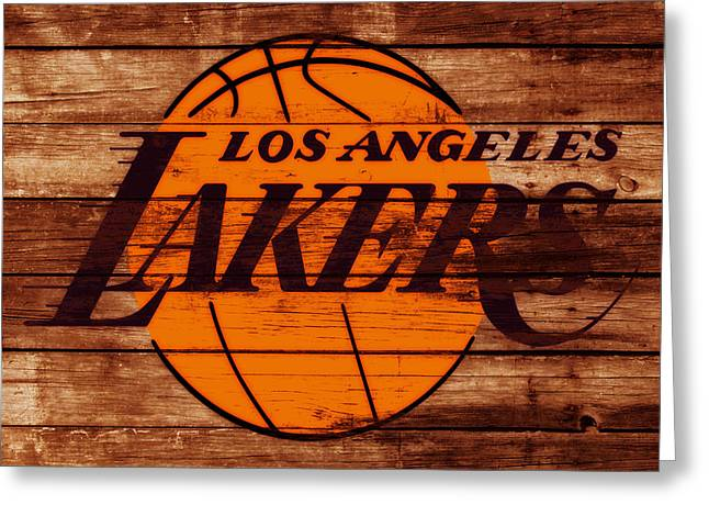 The Los Angeles Lakers W6 Greeting Card by Brian Reaves