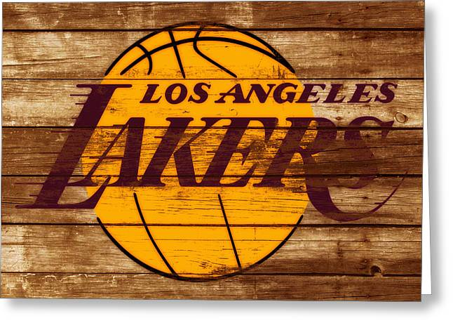 The Los Angeles Lakers W7 Greeting Card by Brian Reaves