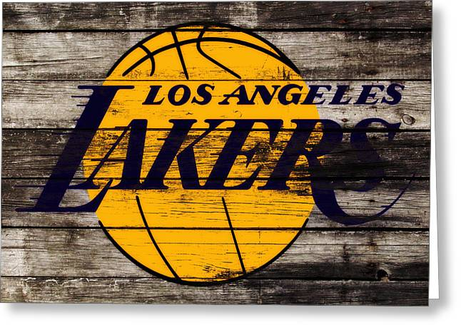 The Los Angeles Lakers W8 Greeting Card by Brian Reaves