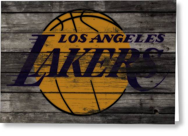 The Los Angeles Lakers W9 Greeting Card by Brian Reaves