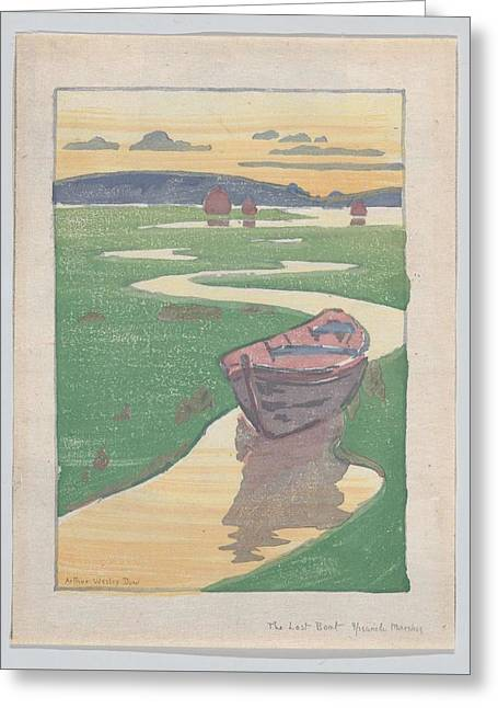 The Lost Boat , Arthur Wesley Dow Greeting Card