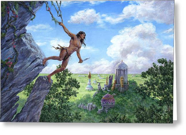The Lost City Of Opar Greeting Card by Richard Hescox