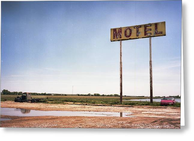 The Lost Motel Greeting Card by HW Kateley