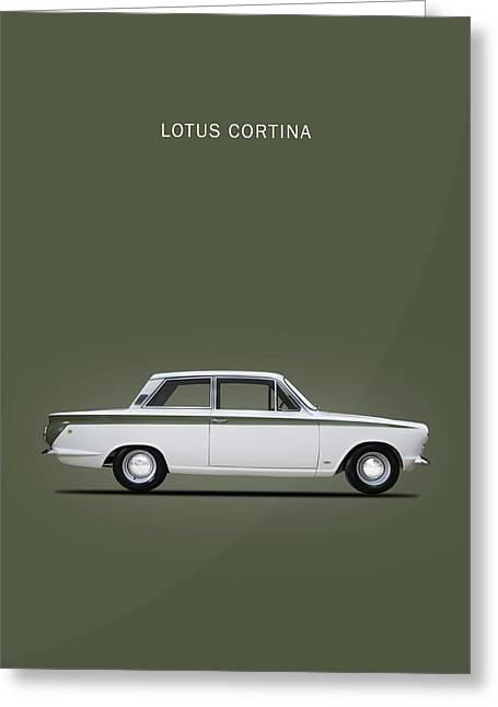 Ford Cortina Lotus Greeting Cards Fine Art America