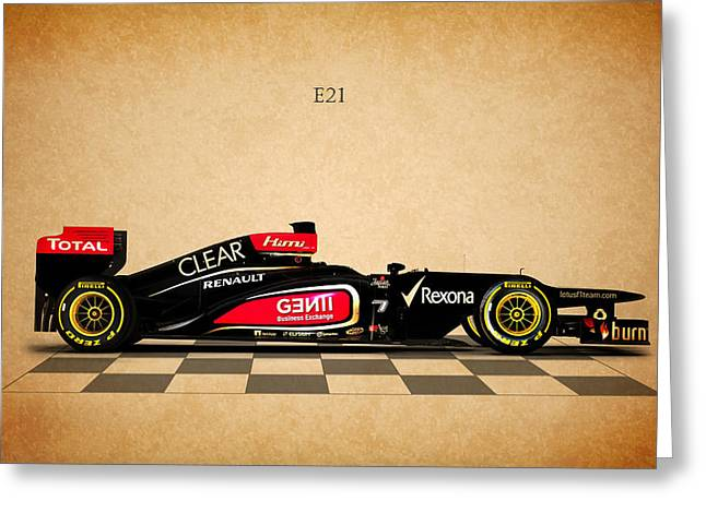 The Lotus E21 Greeting Card