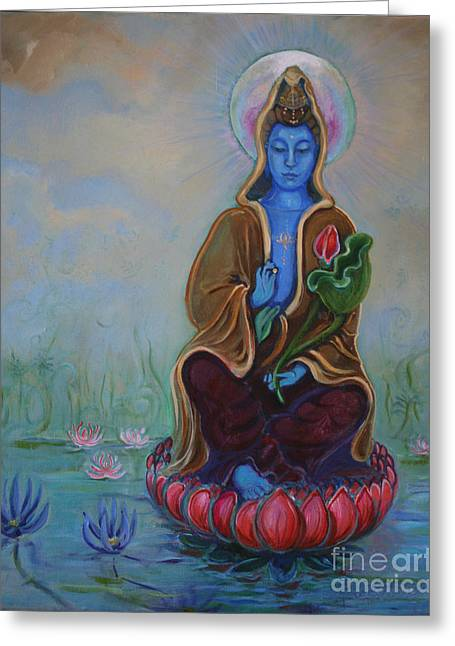 The Lotus Seed Greeting Card by Catherine Moore