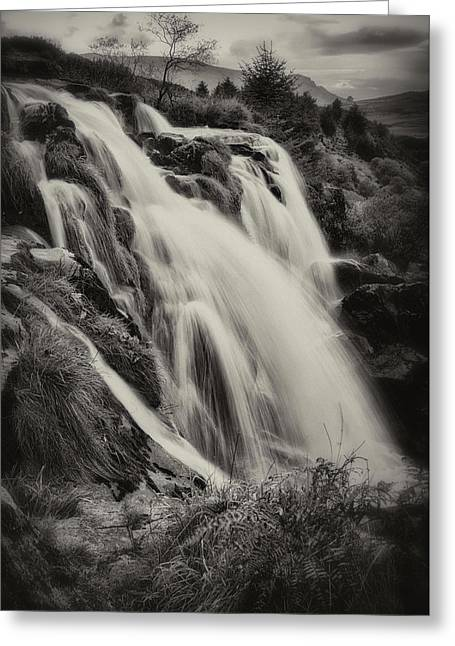 Greeting Card featuring the photograph The Loup Of Fintry In Black And White by Jeremy Lavender Photography