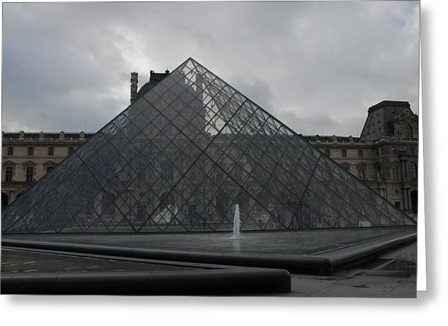 Greeting Card featuring the photograph The Louvre And I.m. Pei by Christopher Kirby