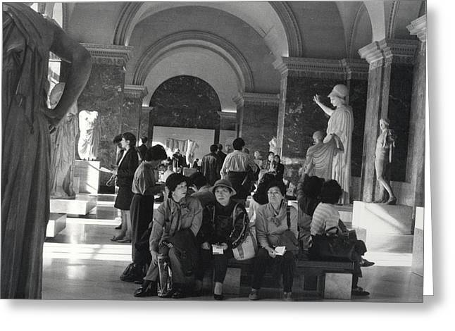 The Louvre Greeting Card by Andrea Simon