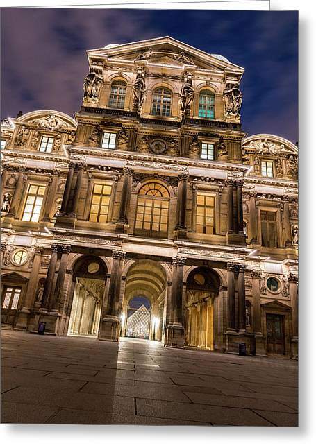 The Louvre Museum At Night Greeting Card