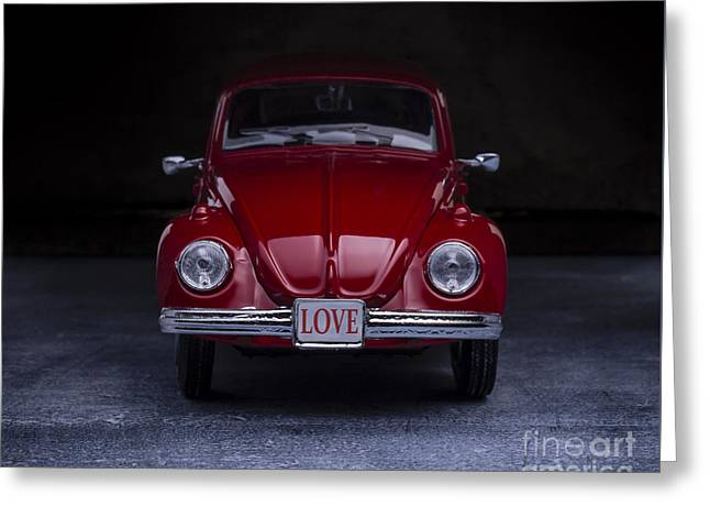 The Love Bug Square Greeting Card