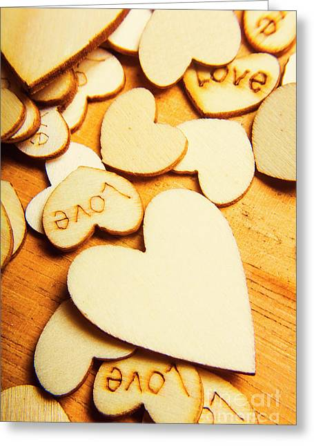 The Love Heart Scatter Greeting Card