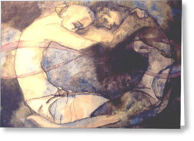 The Lovers Greeting Card by Erika Brown