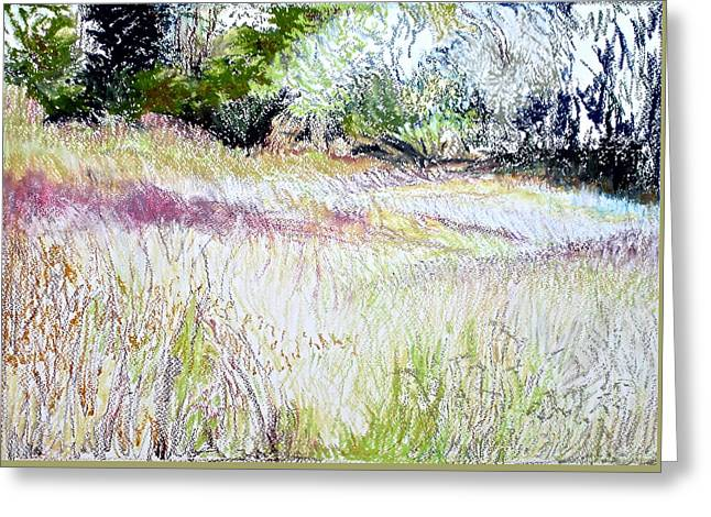 The Lower Field Greeting Card by Bonnie See