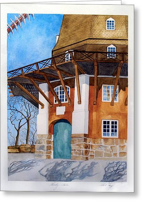 The Lumby Mill Greeting Card by Robert Lacy