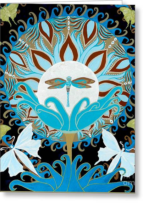 The Luna Moth Journey Of Faith And Love Greeting Card