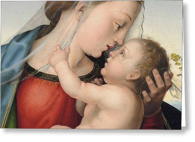 The Madonna And Child Greeting Card by Fra Bartolommeo