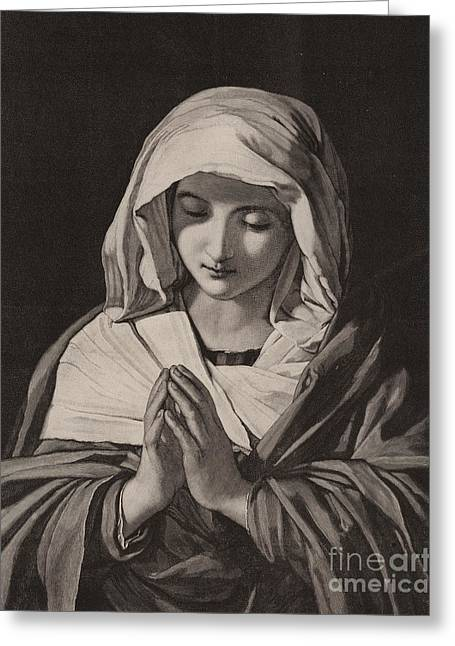 The Madonna In Prayer Greeting Card