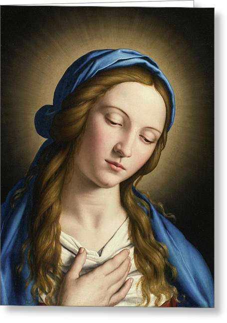 The Madonna Greeting Card by MotionAge Designs