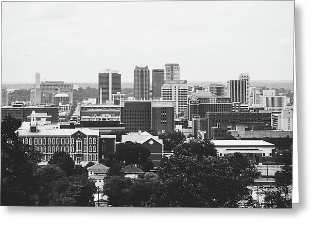 Greeting Card featuring the photograph The Magic City In Monochrome by Shelby Young