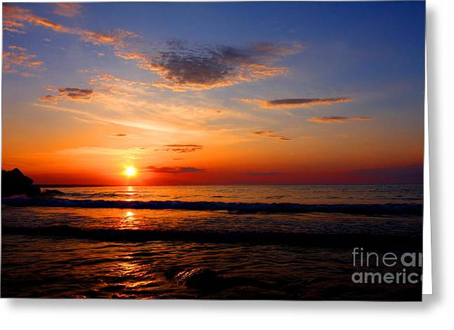 The Magic Hour Greeting Card by Mircea Costina Photography