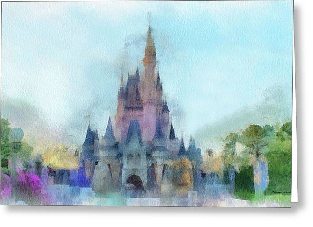The Magic Kingdom Castle Wdw 05 Photo Art Greeting Card