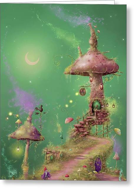The Mushroom Gatherer Greeting Card