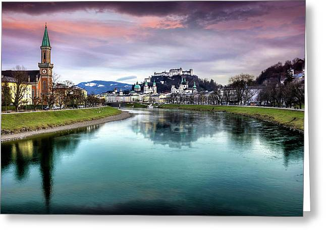 The Magic Of Salzburg  Greeting Card