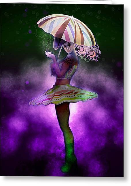 The Magic Of The Circus Greeting Card by Joaquin Abella