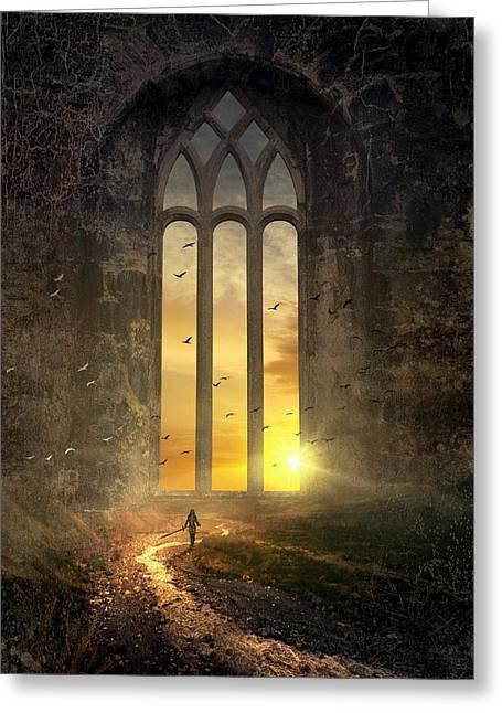 The Magic Window - Das Magische Fenster Greeting Card