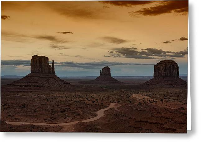 The Magical Beauty Of Monument Valley  Greeting Card