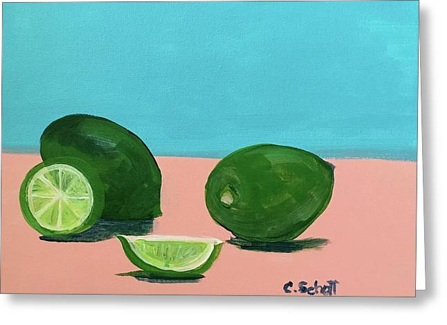 The  Magnificent Fruit From The Lime Tree II Greeting Card