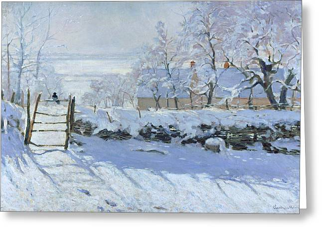 The Magpie Claude Monet 1869 Greeting Card