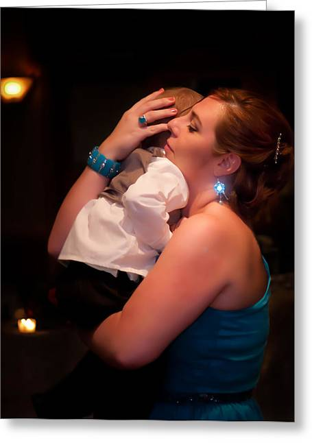 The Maid Of Honor And Child Greeting Card by JP Brandano Photography