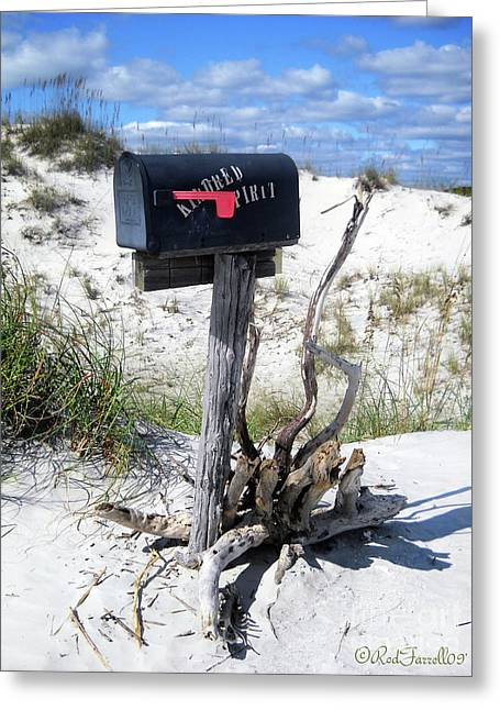 The Mailbox Greeting Card by Rod Farrell