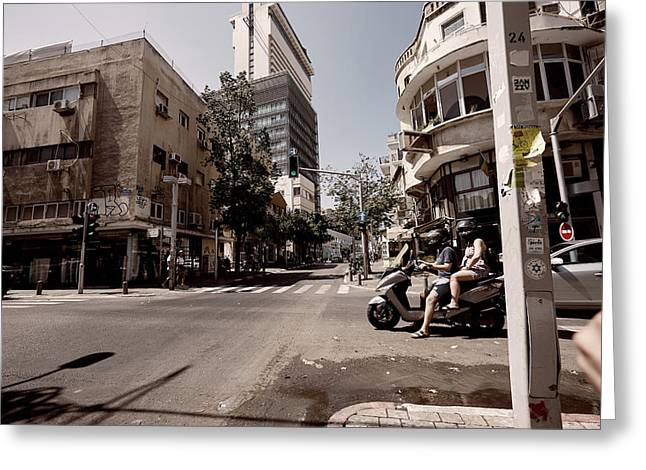 the main street in Tel Aviv Greeting Card by Jan Pavlovski
