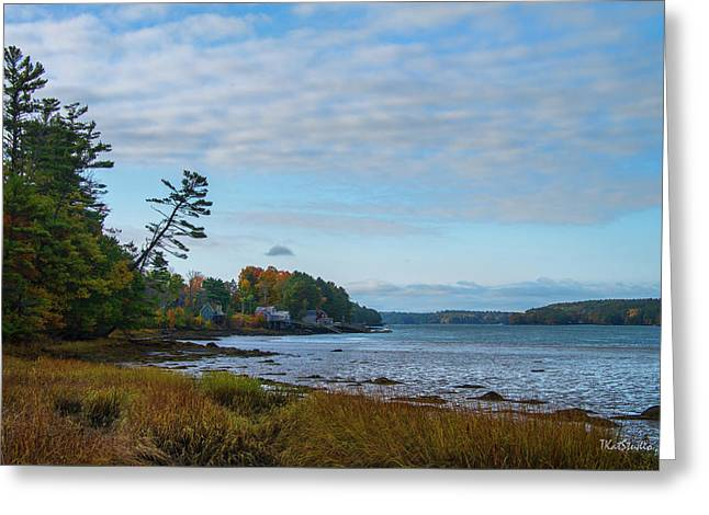The Maine Coast Near Edgecomb  Greeting Card