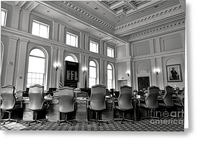 The Maine Senate Chamber Greeting Card by Olivier Le Queinec