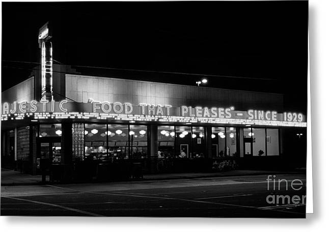 The Majestic Diner Greeting Card by Arni Katz