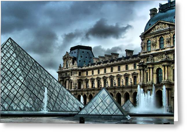 The Majestic Louvre Greeting Card by Greg Sharpe
