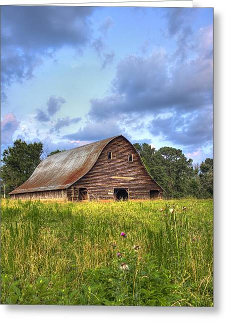 The Majestic Philomath Barn  Greeting Card by Reid Callaway