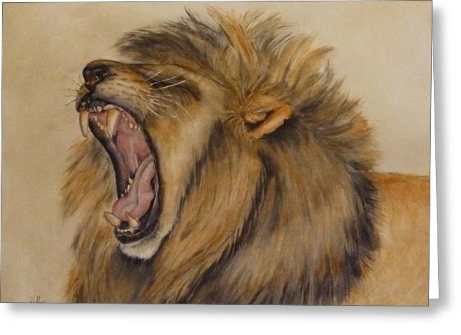 The Majestic Roar Greeting Card