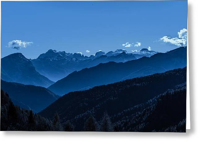 The Majesty Of The Mountains Greeting Card by Mah FineArt