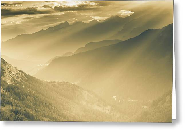 The Majesty Of The Mountains Nr. 2 Greeting Card by Mah FineArt