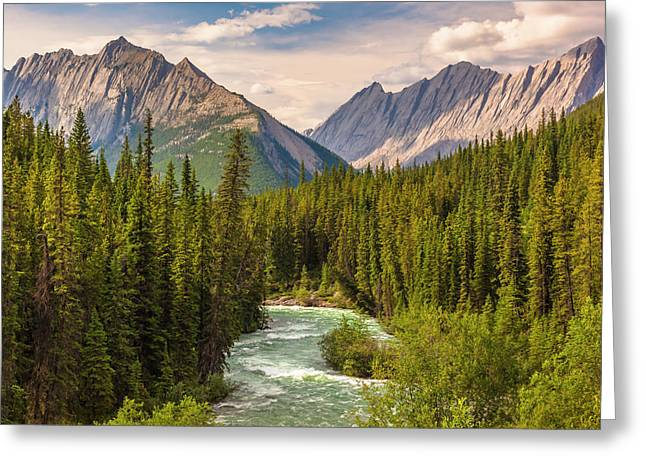 Greeting Card featuring the photograph The Maligne River by Mark Mille