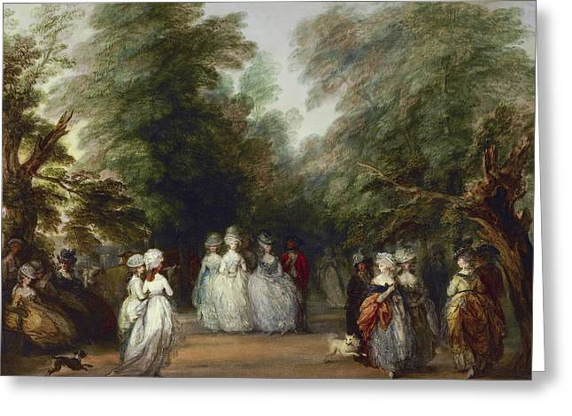 The Mall In Saint James's Park Greeting Card by Thomas Gainsborough