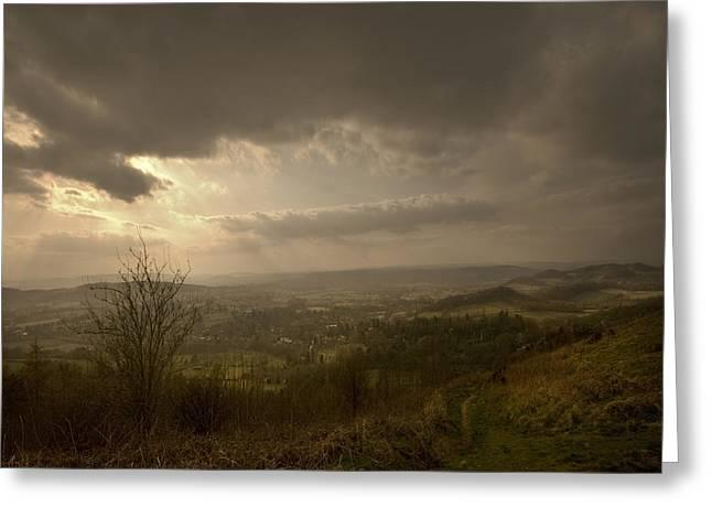 The Malvern Hills Greeting Card by Angel Ciesniarska