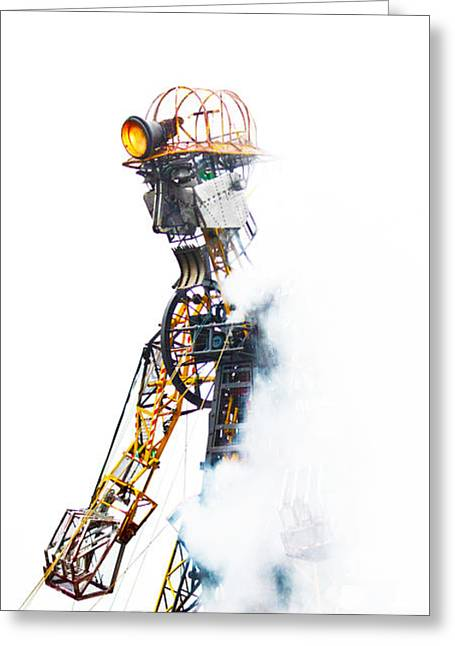 The Man Engine Greeting Card by Terri Waters